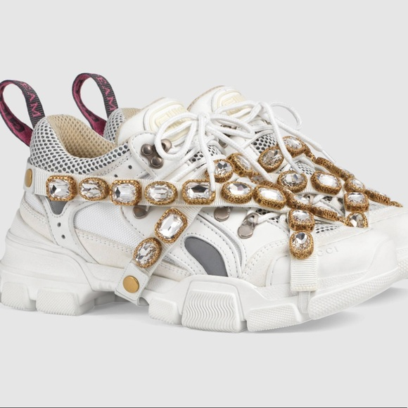 e44666064 Gucci Shoes | Flashtrek Sneaker With Removable Crystals 38 | Poshmark